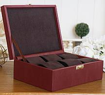 Шкатулка для хранения часов  22*17,5*7,5 Гранд Презент 603410 бордовая