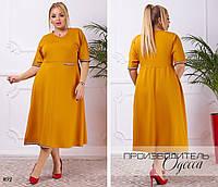 Платье расклешенное миди,ткань итальянский трикотаж,размеры: 42-44,46-48.