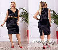 Платье вечернее облегающее без рукав,ткань велюр,размеры:48,50,52,54.