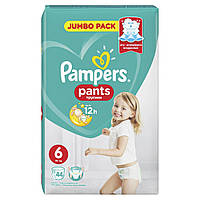 Подгузники-трусики Pampers Pants Размер 6 (Extra Large) 15+ кг, 44 шт