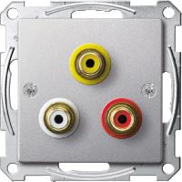 Механизм аудио-видео розетки, алюминий Shneider Merten(MTN4351-0460)