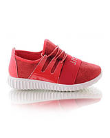 Красные  кроссовки на шнуровке, фото 1