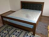 Ліжко двоспальне з натурального дерева в спальню Цезар (бук)160*200 Неомеблі, фото 3