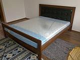 Ліжко двоспальне з натурального дерева в спальню Цезар (бук)160*200 Неомеблі, фото 5