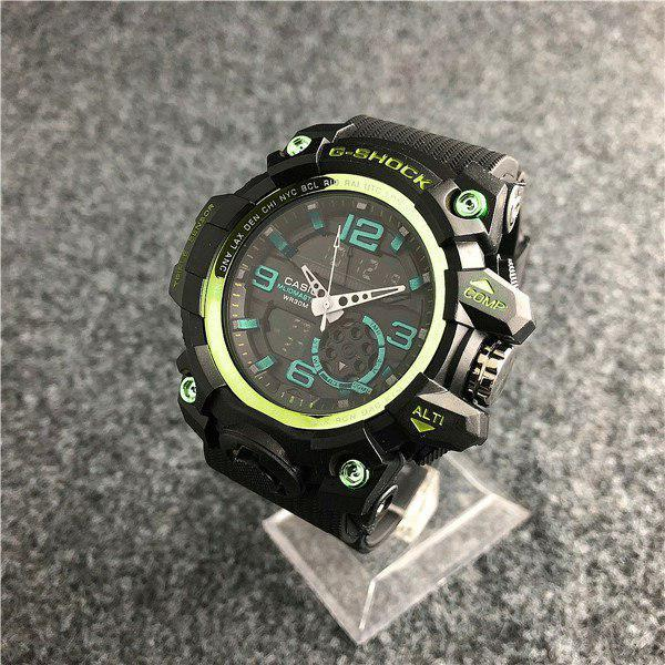 Наручные мужские часы Casio G-Shock GG-1000 Black-Green