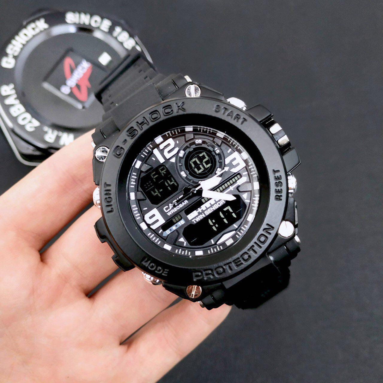 Наручные мужские часы Casio G-Shock GLG-1000 All Black-White