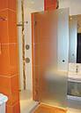 Стеклянная душевая дверь 600*1800 коричневая, фото 2