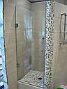 Стеклянная душевая дверь 600*1800 коричневая, фото 7