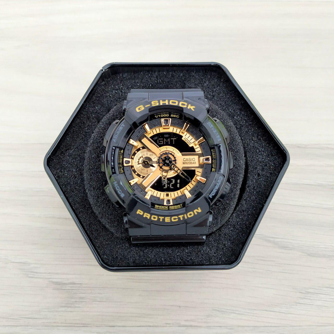 Наручные мужские часы Casio G-Shock GA-110 Black-Gold New