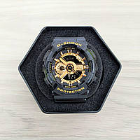 Наручные мужские часы Casio G-Shock GA-110 Black-Gold New, фото 1