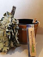 Набор для сауны и бани  (запарник 20 л дуб , веник березовый , часы песочные)