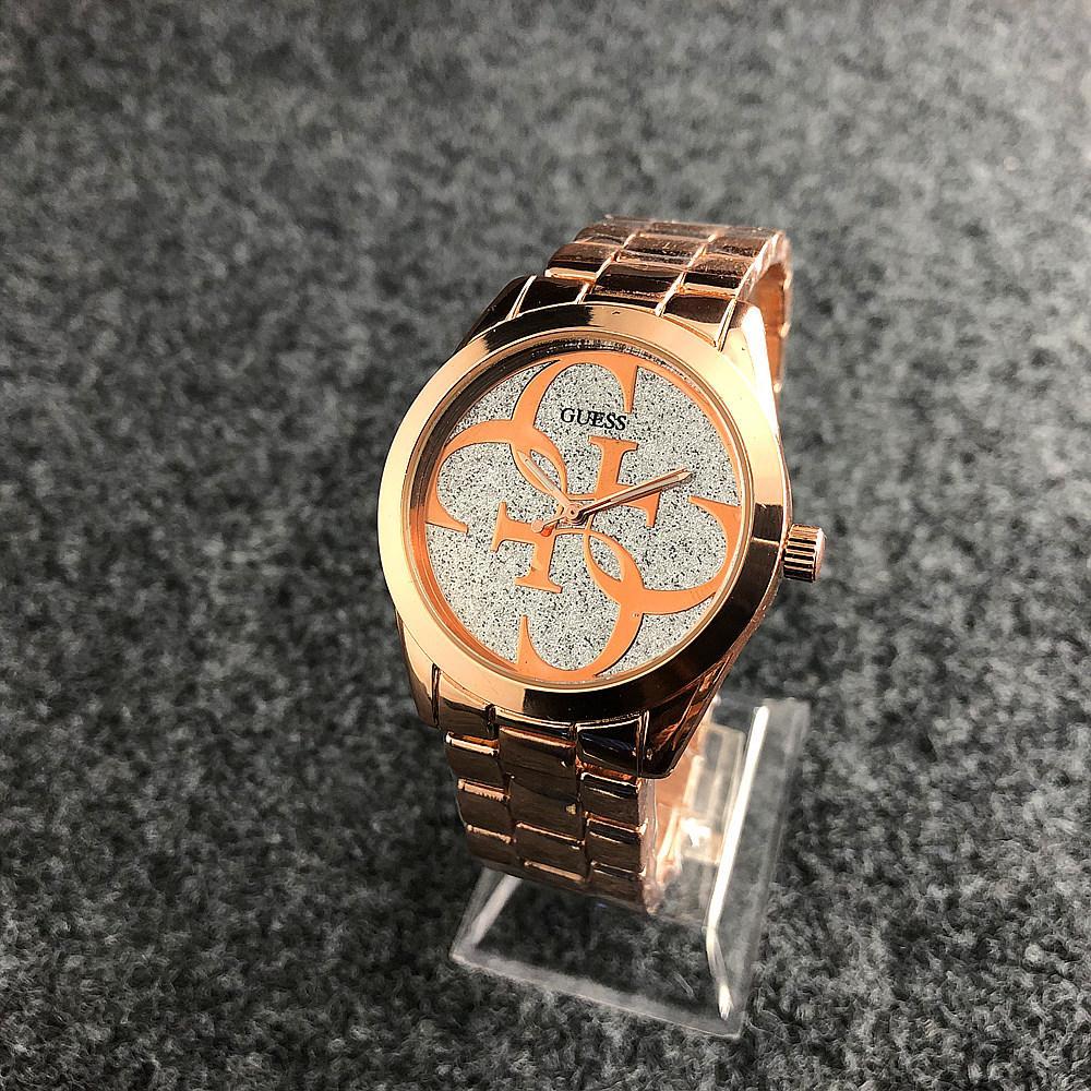 Наручные женские часы Guess 6990 Silver-Gold Pink