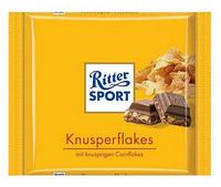Шоколад Ritter Sport Риттер Спорт Кремово-шоколадная начинка + кукурузные хлопья, 100 г. Германия