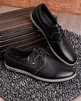 Туфли на шнуровке в  черном цвете, фото 1
