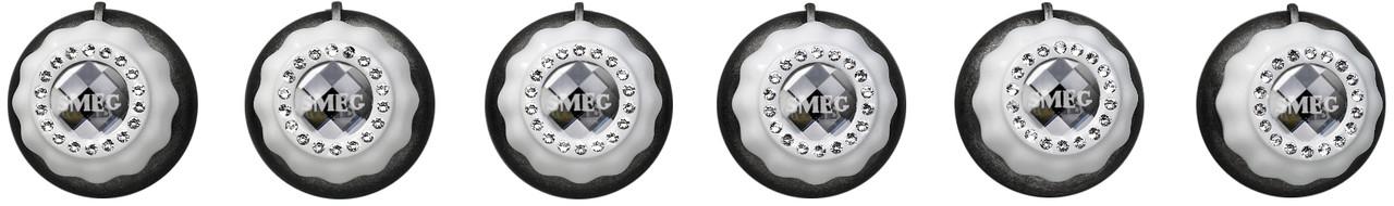 Набор ручек с кристаллами SWAROVSKI для духовых шкафов и компактных приборов Smeg MP700BSL