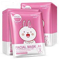 Тканевая маска с цветами вишни Bioaqua Facial Mask (Зайка)