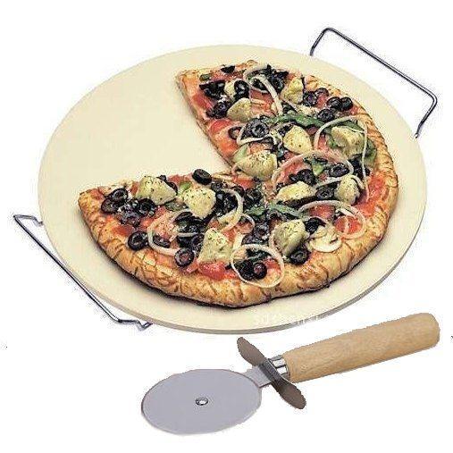 312009 Камень для пиццы круглый 33 см + нож для пиццы Biowin