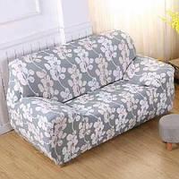 Чехол на диван AllSet 2-х, 3-х местный 145-185 см Цветок