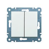 Выключатель 2-клавишный Lumina-2 16А/230В белый