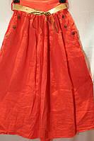 Юбка женская лён с карманами в расцветках