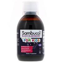 """Детский сироп с черной бузиной Sambucol """"Black Elderberry"""" For Kids, для иммунитета (230 мл)"""
