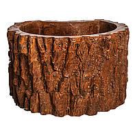 Вазон Corteccia из бетона с фактурой дерева для ландшафтного дизайна