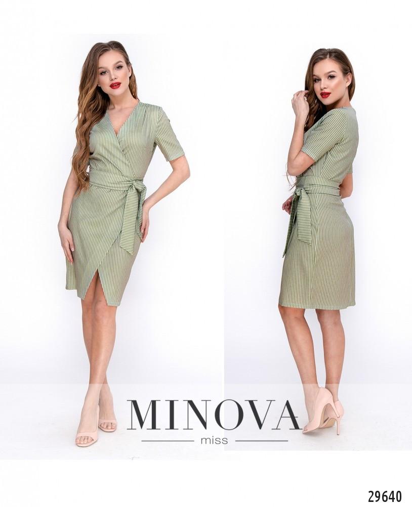 Женское платье с ткани лен-стрейч