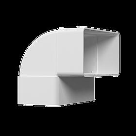 Колено плоское Эра 90° пластиковое 60 х 120 мм (60-192)