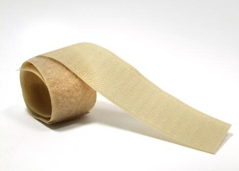 Текстильная застежка (липучка) ширина 50 мм цвет ярко-бежевый