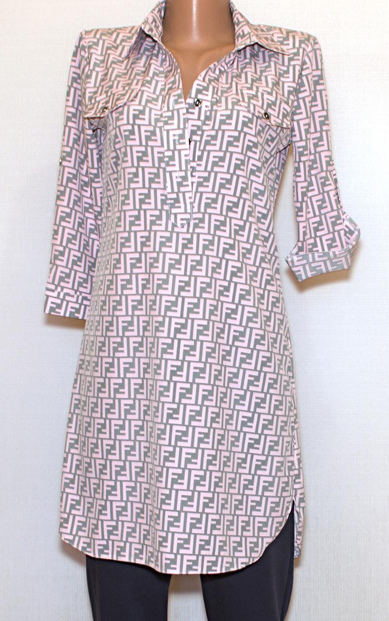 Платье - рубашка, рукав 3/4(56)