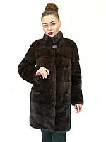 Шуба норковая Oscar Fur 499 Темно -коричневый, фото 1