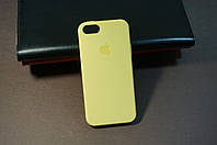 Чехол бампер силиконовый Apple iPhone 5/5s/se айфон Iphone 5 цвет желтый Soft-touch