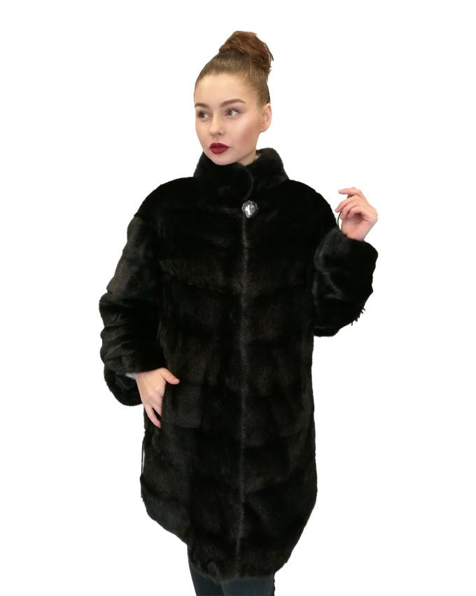Шуба норковая  Oscar Fur   502  Черная