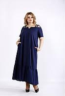 Женское платье А-силуэта удлиненное,  с 42 по 74 размер, фото 1