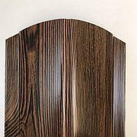 Штакетник 130мм Темное Дерево 2х ст. евроштакетник штахет