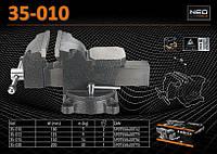 Тиски слесарные 360º - 100мм., NEO 35-010