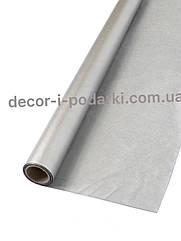 Бумага тишью в рулоне серебро металлик