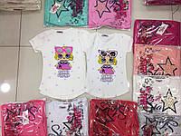 Летняя футболка для девочек от 5 до 8 лет