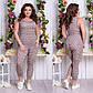 """Женский домашний комплект-пижама капри + маечка до больших размеров 194 """"Барберри"""" в расцветках, фото 2"""