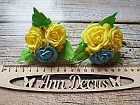 Резиночки розочки. Резинки с розами. Резинки для волос ручной работы