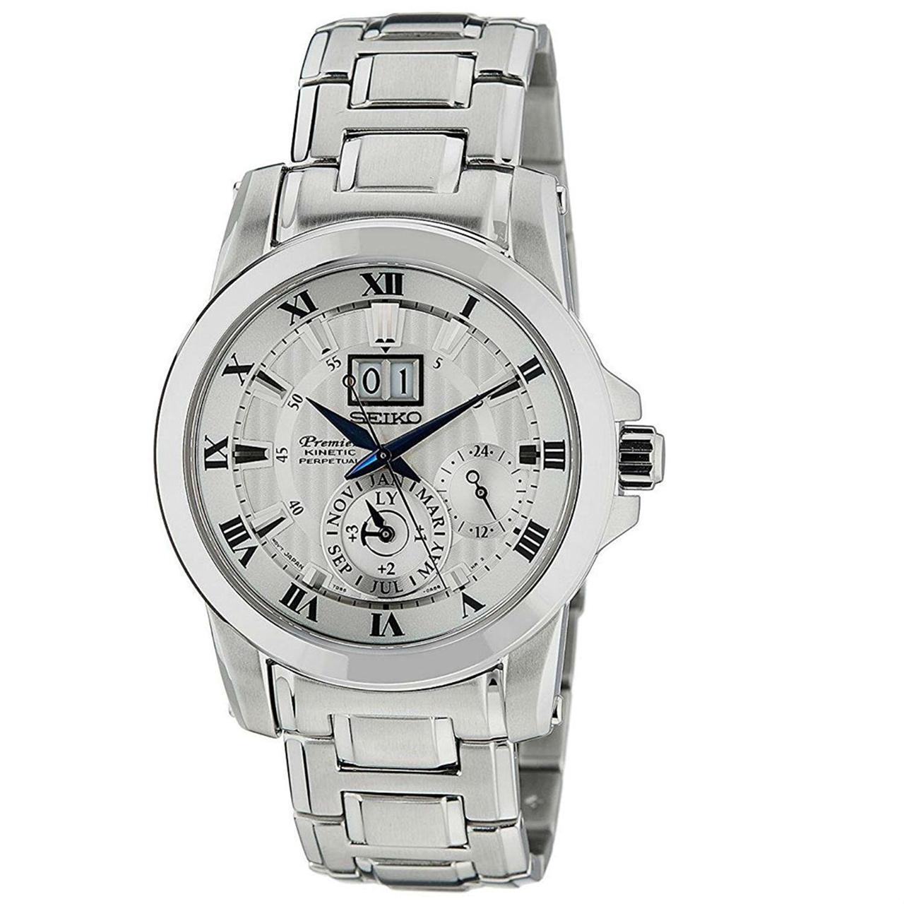 Мужские часы Seiko SNP091P1 Premier Kinetic Perpetual