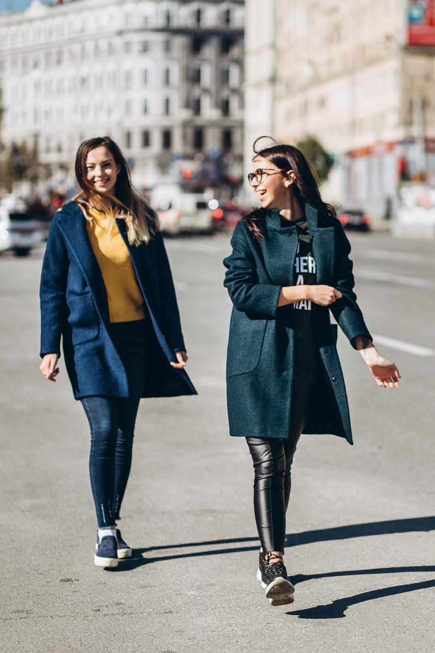 Пальто женское из шерсти вареной O.Z.Z.E Д 261 черное