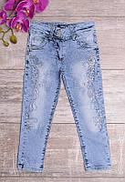 Выбеленные джинсы с вышивкой, фото 1