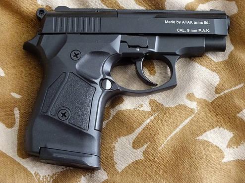 Сигнальный пистолет Atak Arms Stalker 914 Black+50 холостых Ozkursan, фото 2