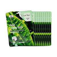 Тканевая маска с экстрактом зелёного чая 3W CLINIC Fresh Mask Sheet Green Tea