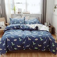 """Комплект постельного белья """"Милые динозавры"""" (двуспальный-евро), фото 1"""