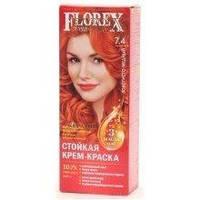 7.4 крем-фарба для волосся NEW Флорекс КЕРАТИН Золотисто-мідний