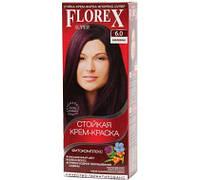 6.0 крем-фарба для волосся NEW Флорекс КЕРАТИН Баклажан