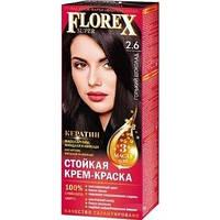 2.6 крем-фарба для волосся NEW Флорекс КЕРАТИН Гіркий шоколад