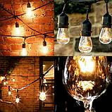 Ретро гирлянды Уличная  5,5  м комплект  10 ламп Эдисона ST GOID 45 патрон Е 27, фото 2